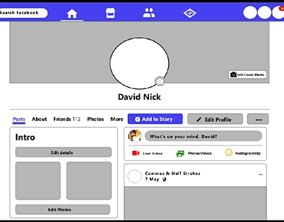 Facebook Wireframe template
