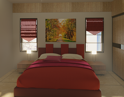 The Living Room and Bedroom 3D Visualisation