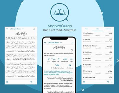 Quran Application UI UX Design | AnalyzeQuran
