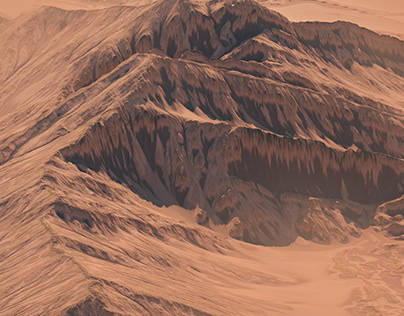 Landscape displacement map