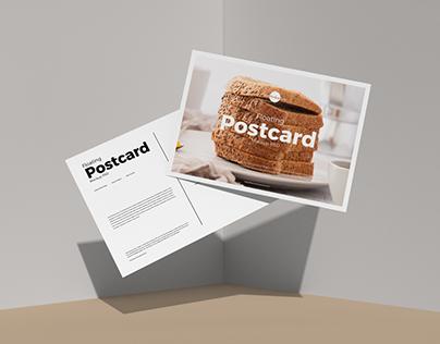 Free Floating Postcard Mockup PSD