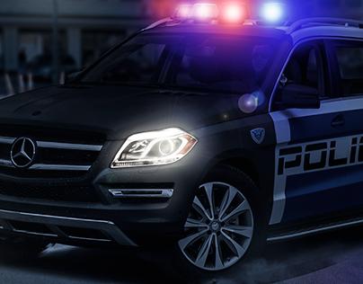 Mercedes GL - Police Car Concept