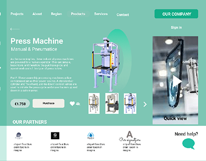 Page Layout for industrial machines