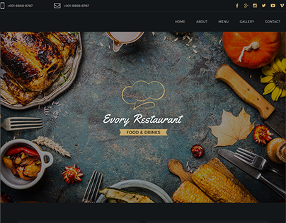 Evory - Responsive Restaurant Adobe Muse Template