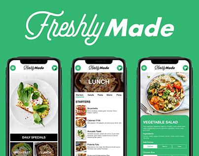 Freshly Made Brand App Design