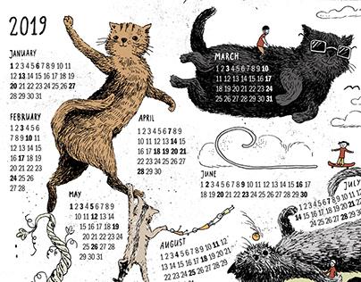 Silly cats calendar
