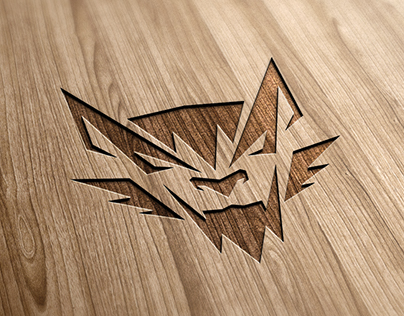 Wolf logo - vector drawing process