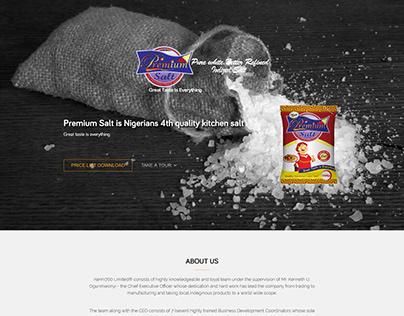 Website Design For Premium Salt Nigeria