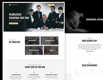Attorney/Lawyer UI Design