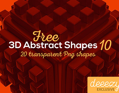 3D Abstract Shapes 10 - FREEBIE