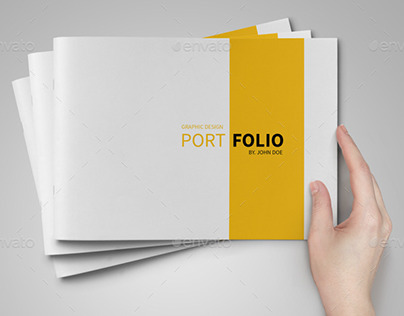 A5 portfolio template on behance for Free indesign portfolio templates