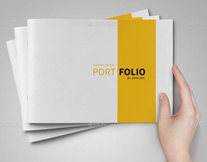 A5 portfolio template on behance for Graphic designer portfolio template free download