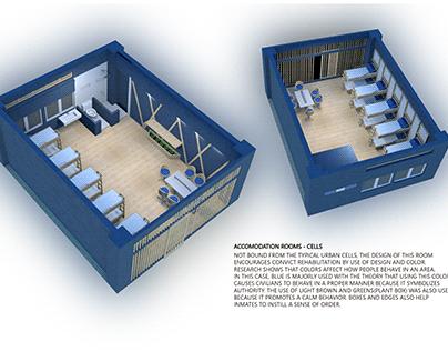 Humane jail cell