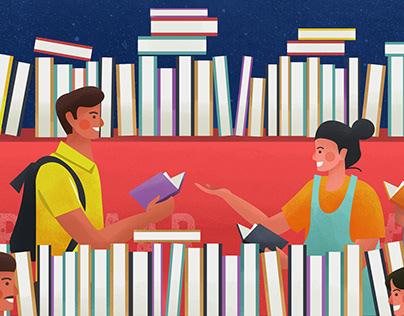 Book Binge Bazaar Illustration