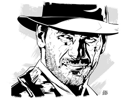 """CHARACTER DESIGN - """"Harrison Ford Series Print 1"""""""