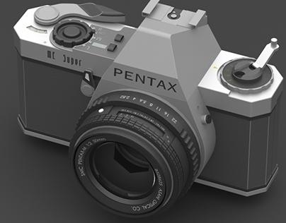 3D Model: Pentax ME Super film camera