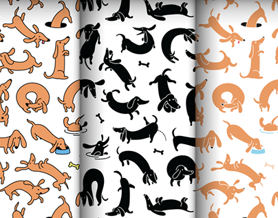 Dachshund Dash Pattern And Icons
