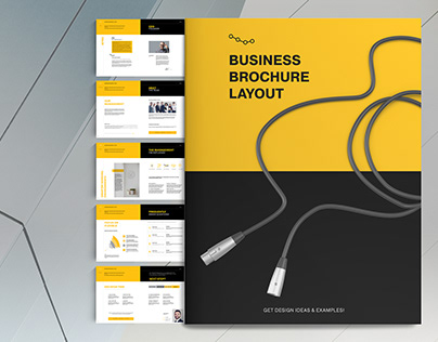 Yellow Business Brochure Layout