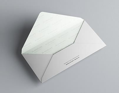 Baronial DL Envelope Mockup