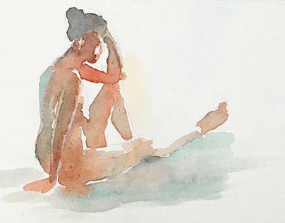 Random Watercolor Paintings (2014-2015)