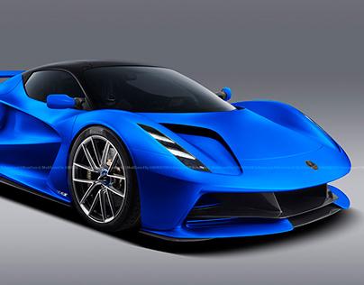 2020 Lotus Evija Blue