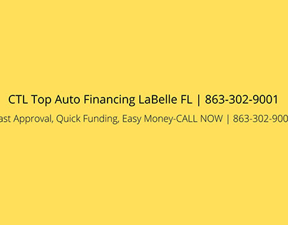 CTL Top Auto Financing LaBelle FL