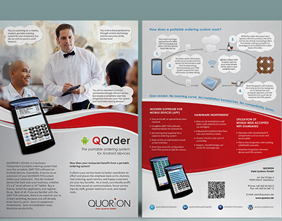 A brochure about portable ordering system for Android