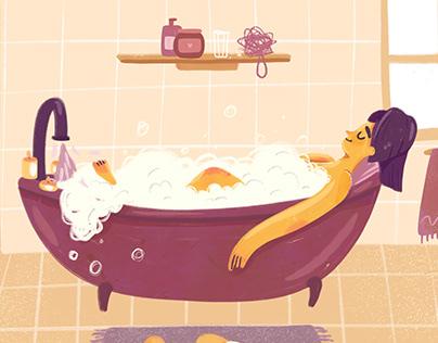 "Editorial Illustrations ""Self Care"""