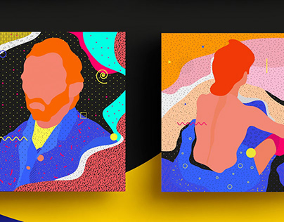 Abstract series about Famous Paintings Interpretation