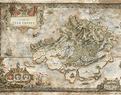 GreedFall RPG Videogame Map