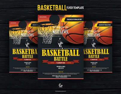 Free Basketball Flyer Design Template