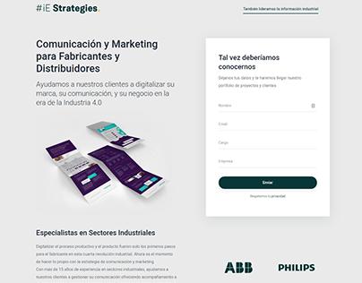 Landing Page #iE Strategies
