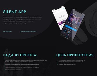 """Mobile app """"Silent App"""""""