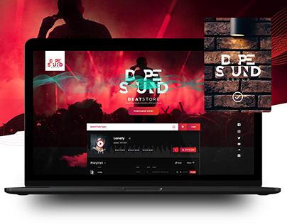 Beat store logo and website design