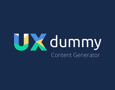 UXDUMMY - Content & Fake Username Generator
