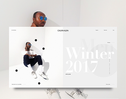 Quick restyling of Calvin Klein website