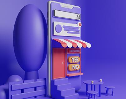 Online Shop 3D