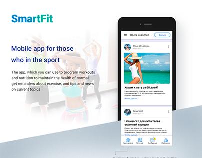 """""""SmartFit"""" mobile app"""