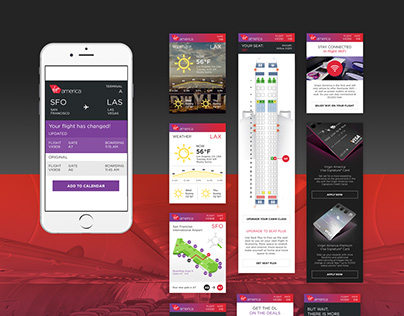 Virgin America Flight Itinerary Design