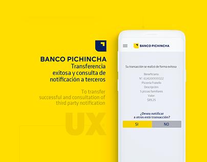 Interfaz Transferencias App Banco Pichincha