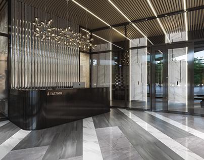 """Interior hall. Residential complex """"Tatlin"""""""