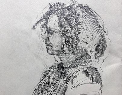 Sketchbook Pencil Drawings