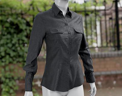 Realistic 3D model of Women's Shirt