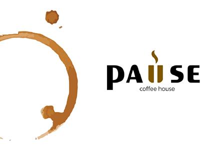 """Pause Coffee House"" Branding"