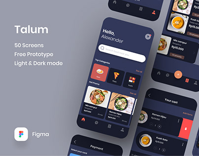 Talum - Food delivery App UI Kit for IOS