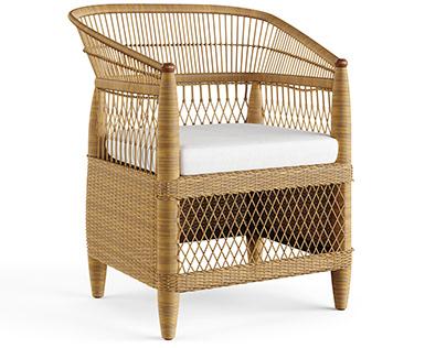 Modelo 3D: Cadeira Ocasional Palecek Malawi