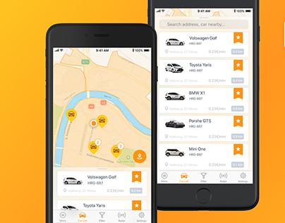 Citybee - Car Sharing App Redesign