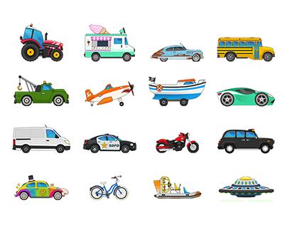 Vehicles Mash-Up Design