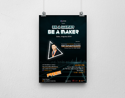 """Poster for """"Be a Gamer"""" Event"""