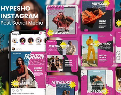 Hypesho - Creative Outfit Instagram Post Template